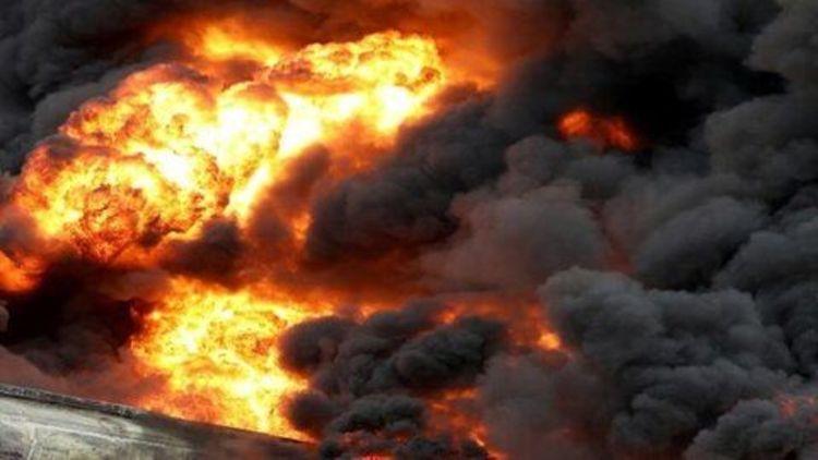 انفجار مخزن یک کارخانه در چناران یک کشته و 13 مجروح برجا گذاشت