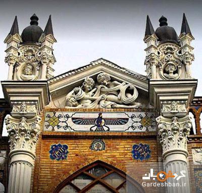 عمارت سرای روشن؛ یکی از بناهای تاریخی خیابان ناصر خسرو، عکس