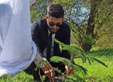 خبرنگاران زوج جوان شوشی کاشت نهال را به جشن عروسی ترجیح دادند